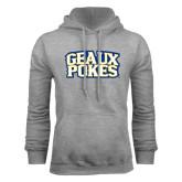 Grey Fleece Hoodie-Geaux Pokes Stacked