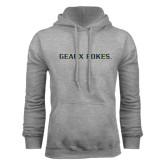 Grey Fleece Hoodie-Geaux Pokes Flat