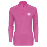 Ladies Syntrel Interlock Raspberry 1/4 Zip-M