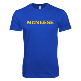 Next Level SoftStyle Royal T Shirt-McNeese