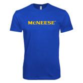 Next Level SoftStyle Royal T Shirt-McNeese