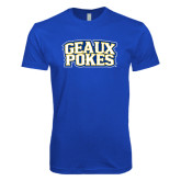 Next Level SoftStyle Royal T Shirt-Geaux Pokes Stacked