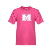 Youth Cyber Pink T Shirt-M