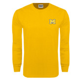 Gold Long Sleeve T Shirt-M