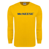 Gold Long Sleeve T Shirt-McNeese