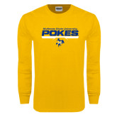 Gold Long Sleeve T Shirt-Pokes Bar Design
