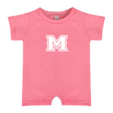 Bubble Gum Pink Infant Romper-M