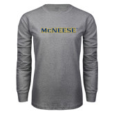 Grey Long Sleeve T Shirt-McNeese