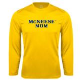 Performance Gold Longsleeve Shirt-Mom