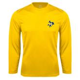 Syntrel Performance Gold Longsleeve Shirt-Primary Mark