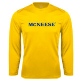 Syntrel Performance Gold Longsleeve Shirt-McNeese