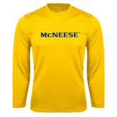 Syntrel Performance Gold Longsleeve Shirt-McNeese