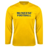 Syntrel Performance Gold Longsleeve Shirt-Football