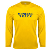 Performance Gold Longsleeve Shirt-Track