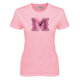 Ladies Pink T Shirt-M Engraved