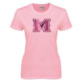 Ladies Pink T-Shirt-M Engraved