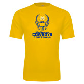 Syntrel Performance Gold Tee-Football Helmet Design