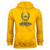 Gold Fleece Hoodie-Football Helmet Design