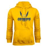 Gold Fleece Hoodie-Track Wings Design