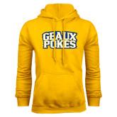 Gold Fleece Hoodie-Geaux Pokes Stacked