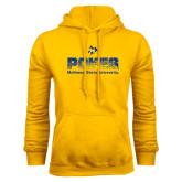 Gold Fleece Hoodie-Pokes Splatter Design