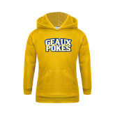 Youth Gold Fleece Hoodie-Geaux Pokes Stacked