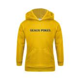 Youth Gold Fleece Hoodie-Geaux Pokes Flat