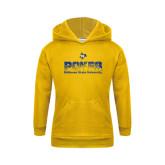 Youth Gold Fleece Hoodie-Pokes Splatter Design