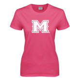 Ladies Fuchsia T Shirt-M
