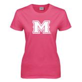 Ladies Fuchsia T Shirt-M