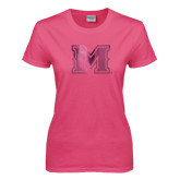 Ladies Fuchsia T Shirt-M Engraved