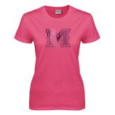Ladies Fuchsia T Shirt-M Engraved
