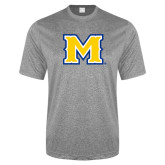 Performance Grey Heather Contender Tee-M