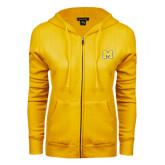 ENZA Ladies Gold Fleece Full Zip Hoodie-M
