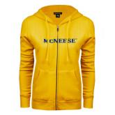 ENZA Ladies Gold Fleece Full Zip Hoodie-McNeese