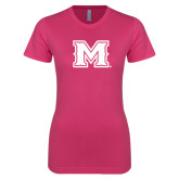 Ladies SoftStyle Junior Fitted Fuchsia Tee-M