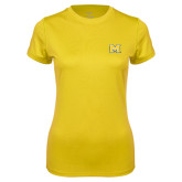 Ladies Syntrel Performance Gold Tee-M