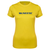 Ladies Syntrel Performance Gold Tee-McNeese