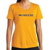 Ladies Syntrel Performance Gold Tee-McNeese
