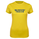 Ladies Syntrel Performance Gold Tee-Track