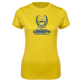 Ladies Syntrel Performance Gold Tee-Football Helmet Design