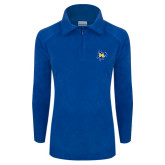 Columbia Ladies Half Zip Royal Fleece Jacket-Primary Mark