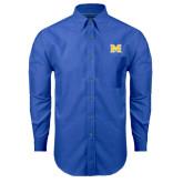 Mens Royal Oxford Long Sleeve Shirt-M