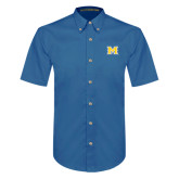 Royal Twill Button Down Short Sleeve-M