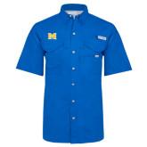 Columbia Bonehead Royal Short Sleeve Shirt-M