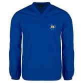 V Neck Royal Raglan Windshirt-Primary Mark