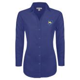 Ladies Red House Diamond Dobby Royal Long Sleeve Shirt-Primary Mark