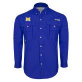 Columbia Bahama II Royal Long Sleeve Shirt-M