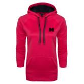 Ladies Pink Raspberry Tech Fleece Hoodie-M Tone