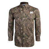 Camo Long Sleeve Performance Fishing Shirt-M